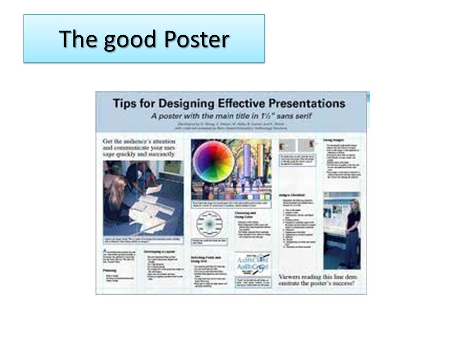 The good Poster