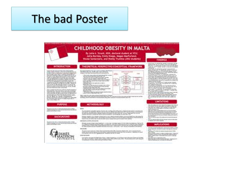 The bad Poster