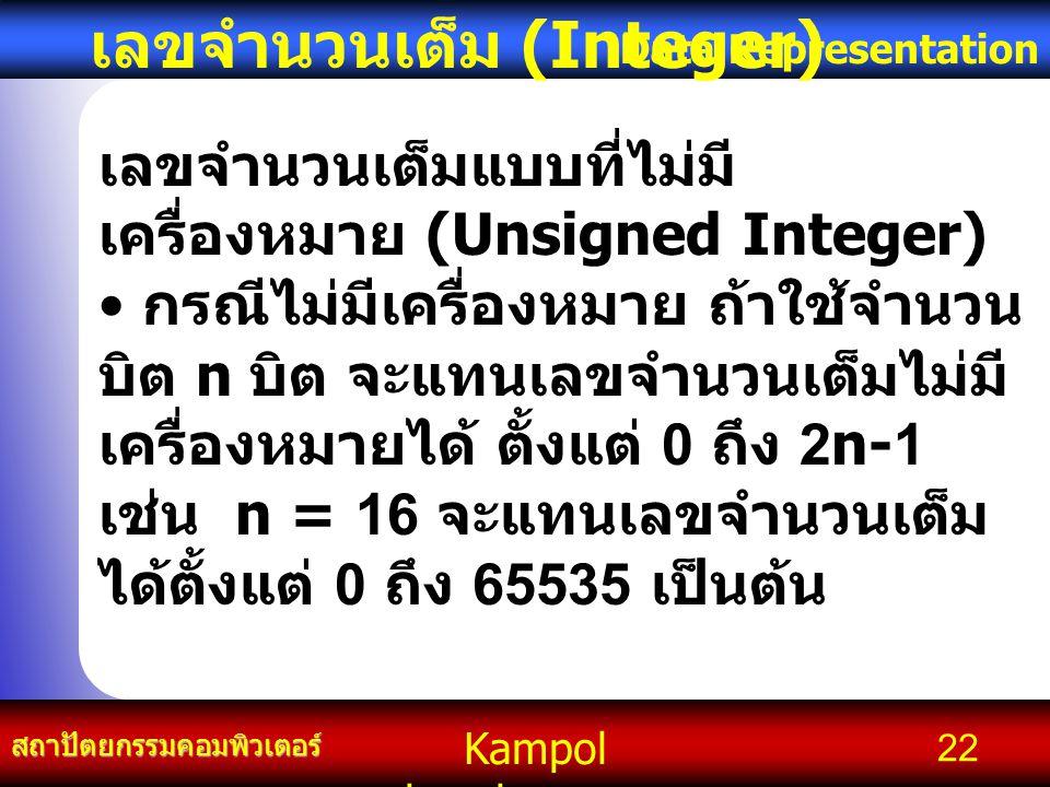 เลขจำนวนเต็ม (Integer)