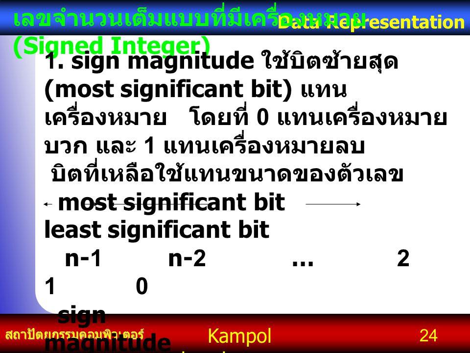 เลขจำนวนเต็มแบบที่มีเครื่องหมาย (Signed Integer)