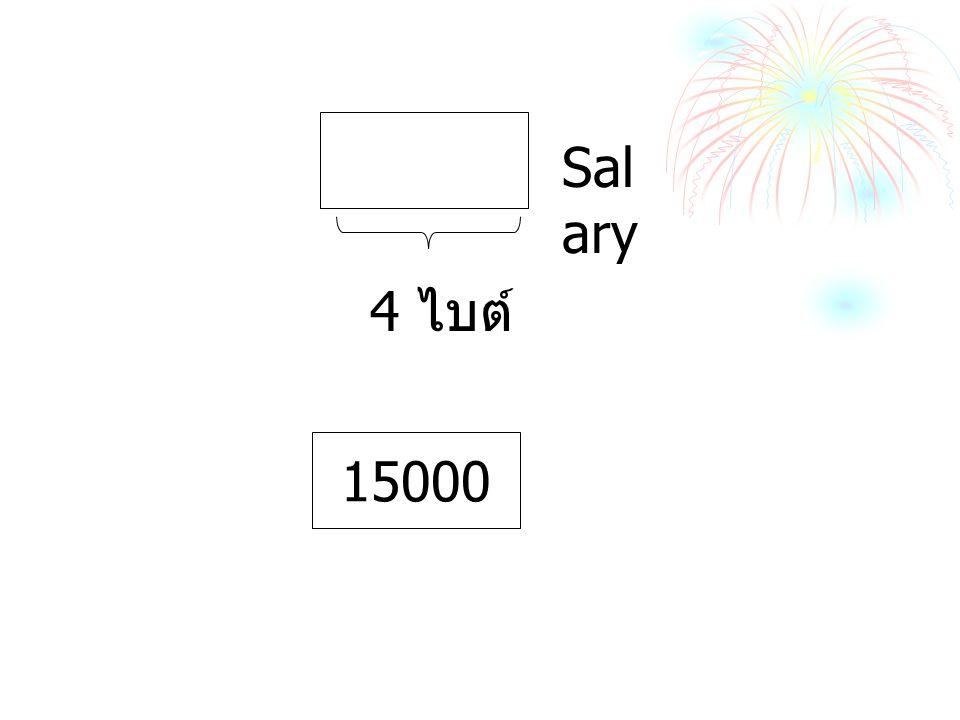 Salary 4 ไบต์ 15000