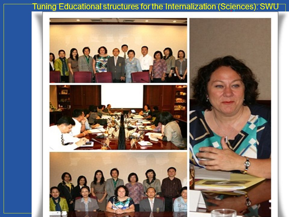 Tuning Educational structures for the Internalization (Sciences): SWU