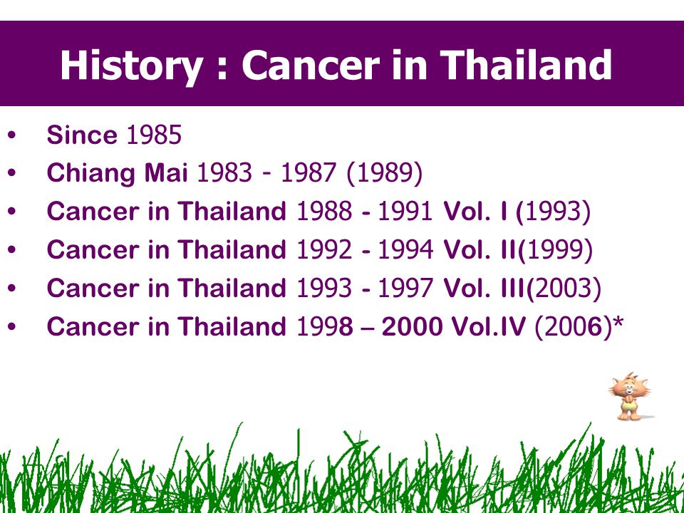 History : Cancer in Thailand