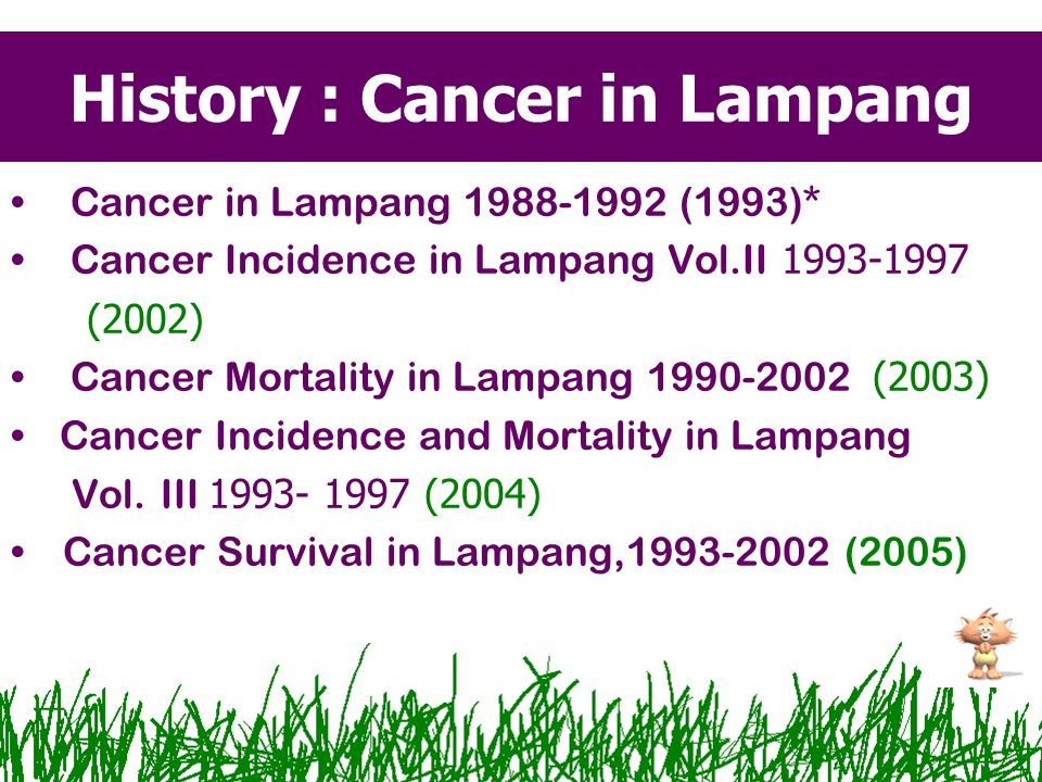 History : Cancer in Lampang