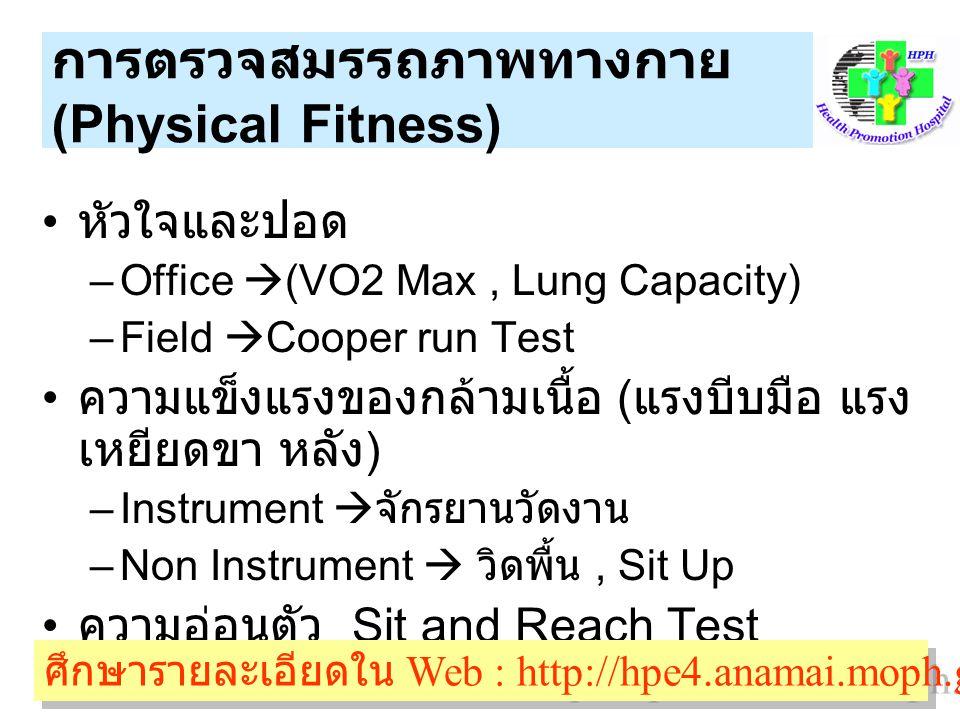 การตรวจสมรรถภาพทางกาย (Physical Fitness)