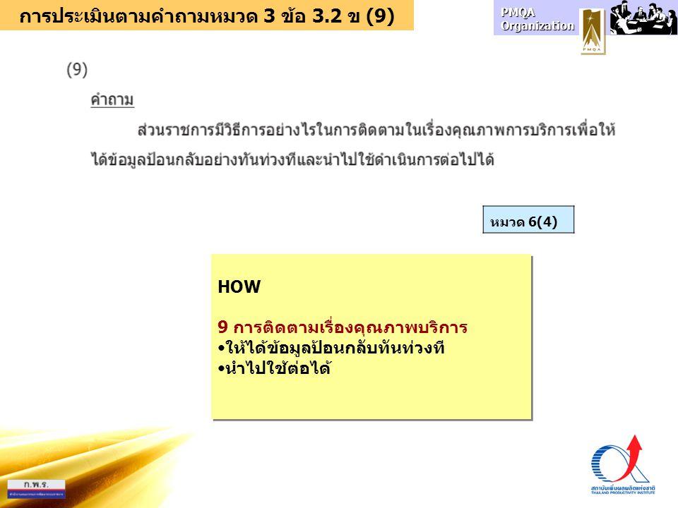 การประเมินตามคำถามหมวด 3 ข้อ 3.2 ข (9)