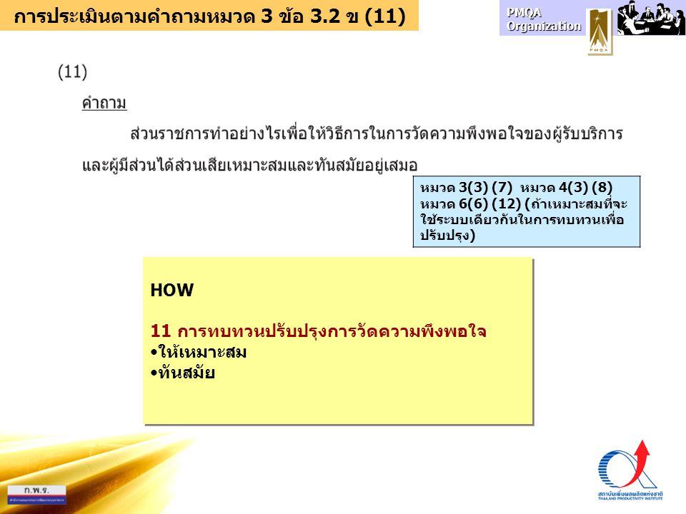 การประเมินตามคำถามหมวด 3 ข้อ 3.2 ข (11)