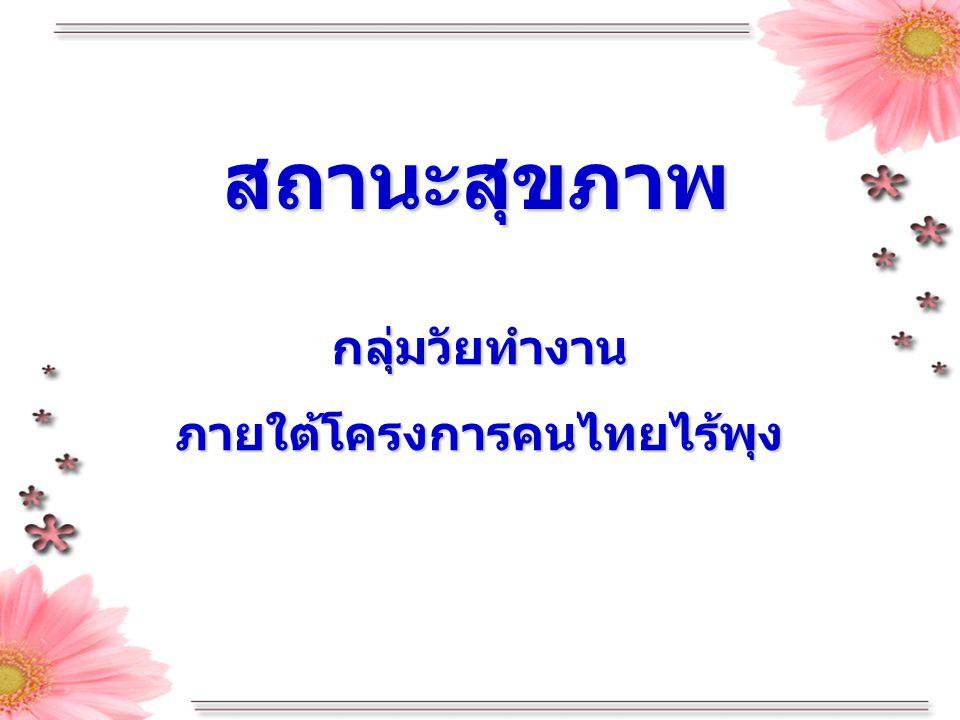 ภายใต้โครงการคนไทยไร้พุง