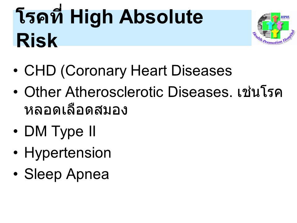 โรคที่ High Absolute Risk