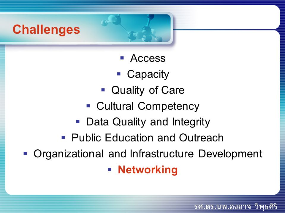 Challenges Access Capacity Quality of Care Cultural Competency