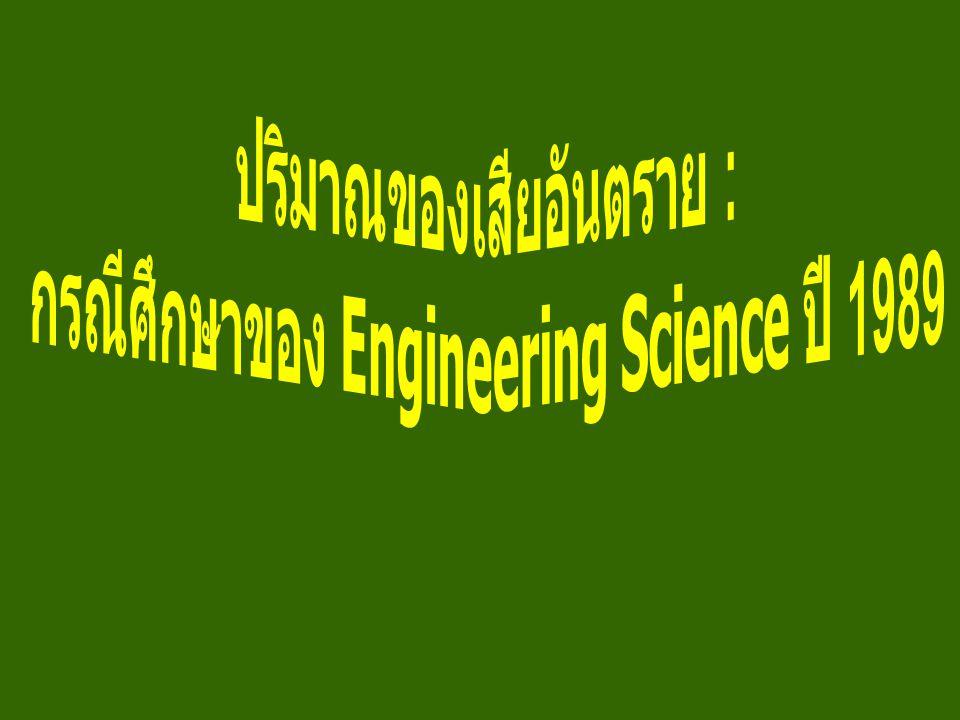 ปริมาณของเสียอันตราย : กรณีศึกษาของ Engineering Science ปี 1989