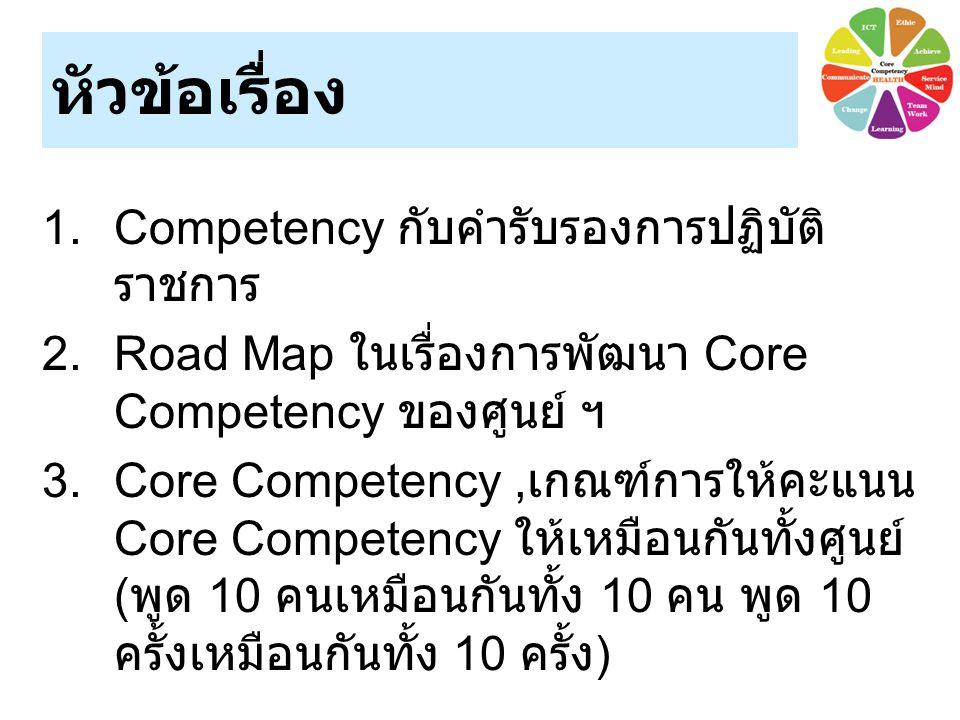 หัวข้อเรื่อง Competency กับคำรับรองการปฏิบัติราชการ