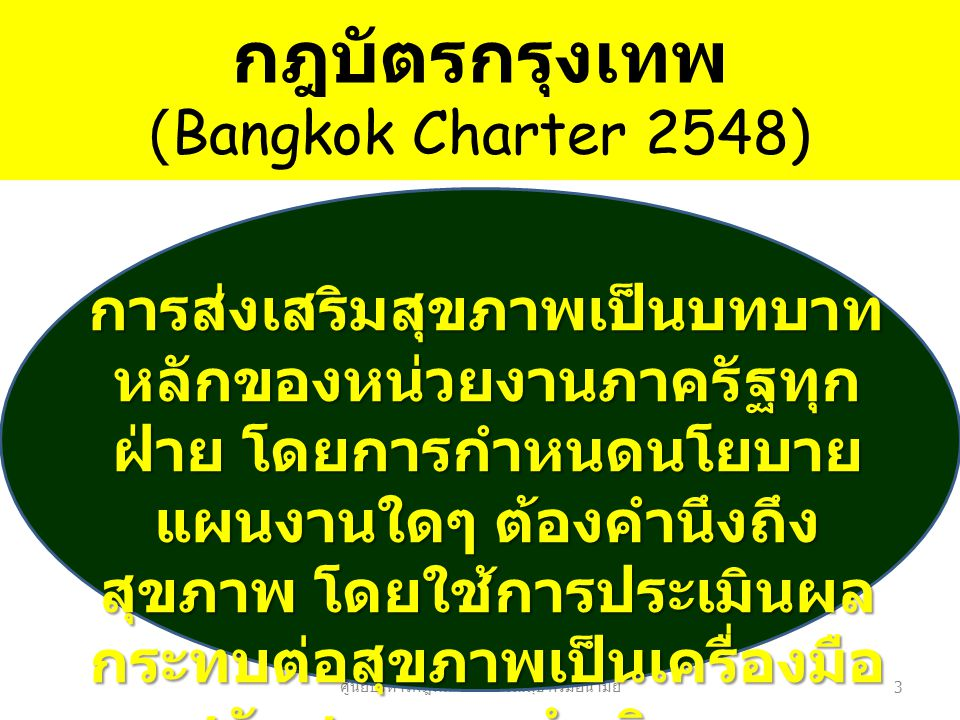 กฎบัตรกรุงเทพ (Bangkok Charter 2548)