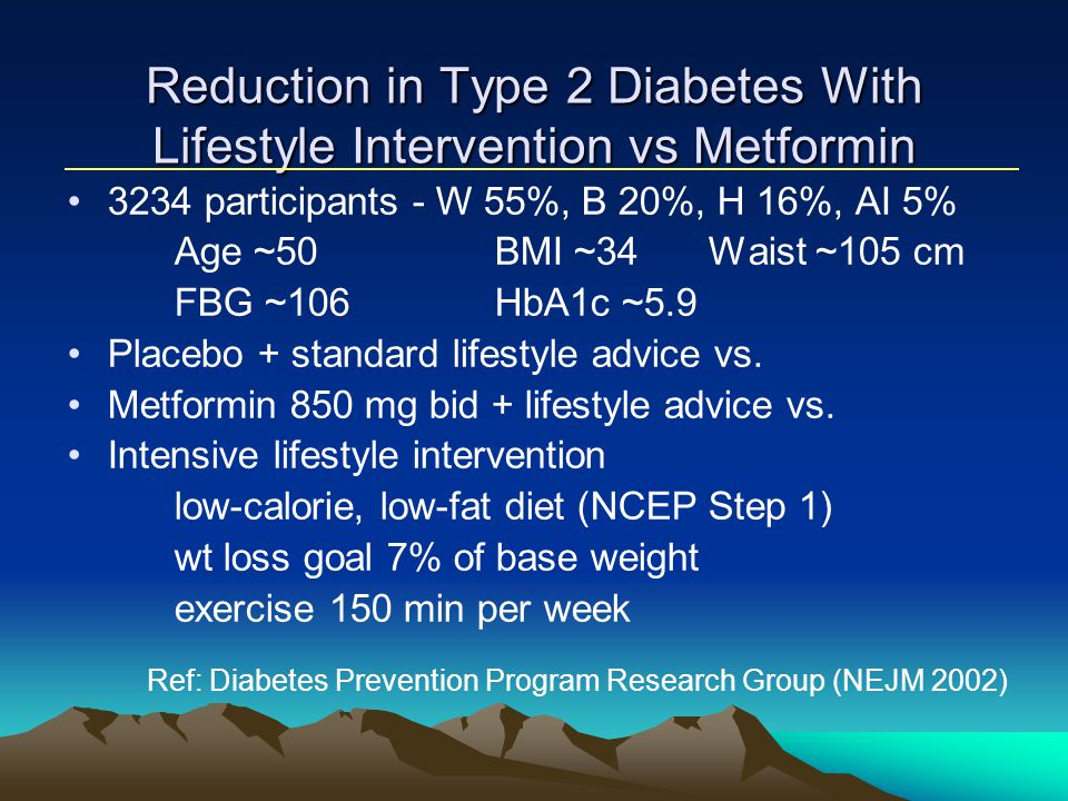 Reduction in Type 2 Diabetes With Lifestyle Intervention vs Metformin