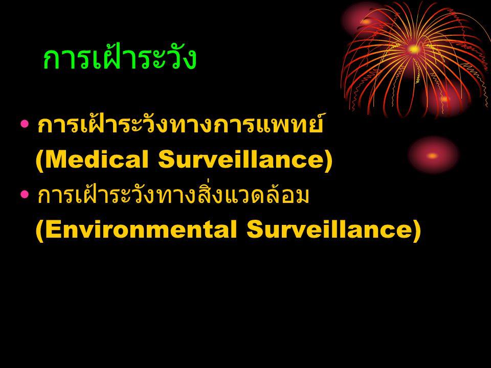 การเฝ้าระวัง การเฝ้าระวังทางการแพทย์ (Medical Surveillance)