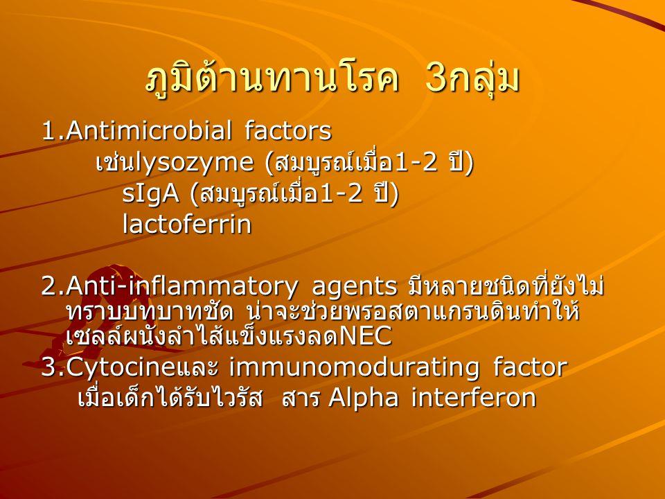 ภูมิต้านทานโรค 3กลุ่ม 1.Antimicrobial factors