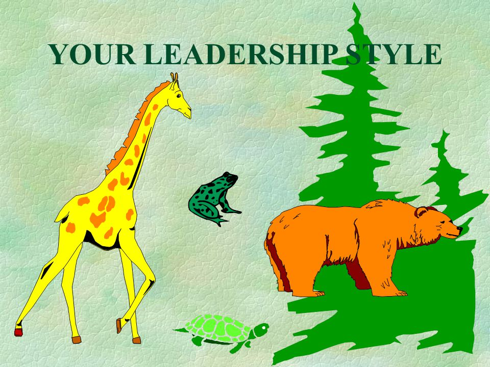 YOUR LEADERSHIP STYLE