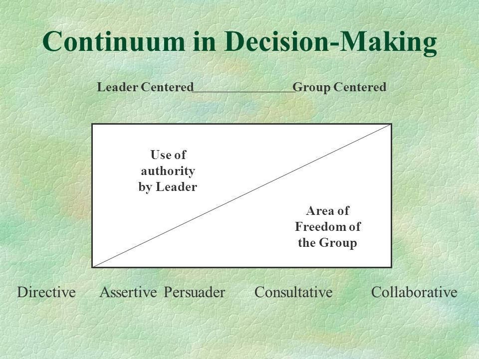Continuum in Decision-Making