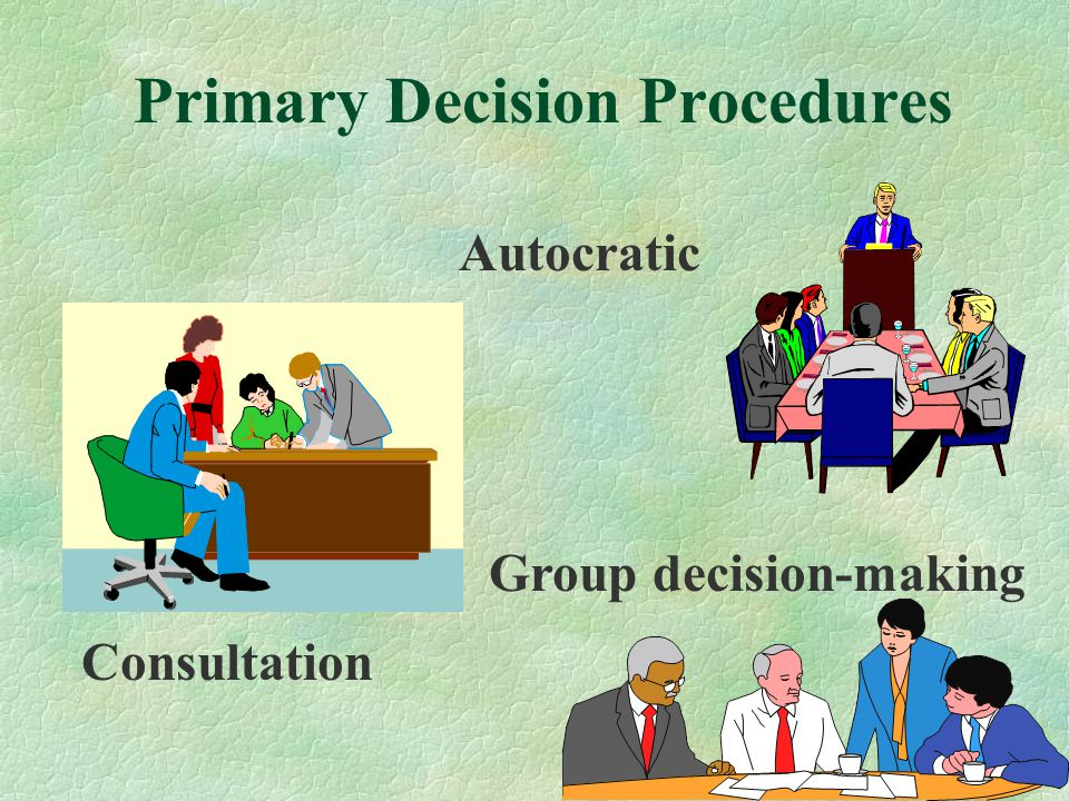 Primary Decision Procedures