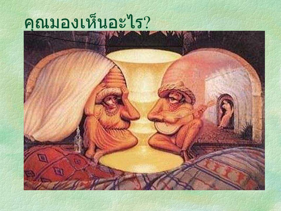 คุณมองเห็นอะไร