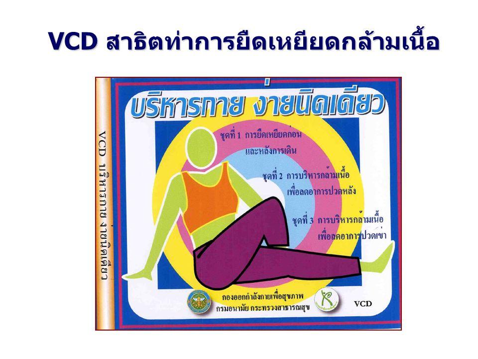 VCD สาธิตท่าการยืดเหยียดกล้ามเนื้อ