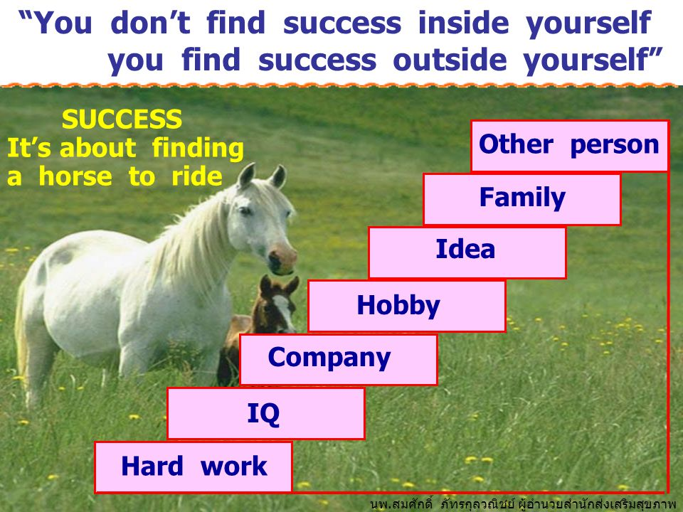 You don't find success inside yourself