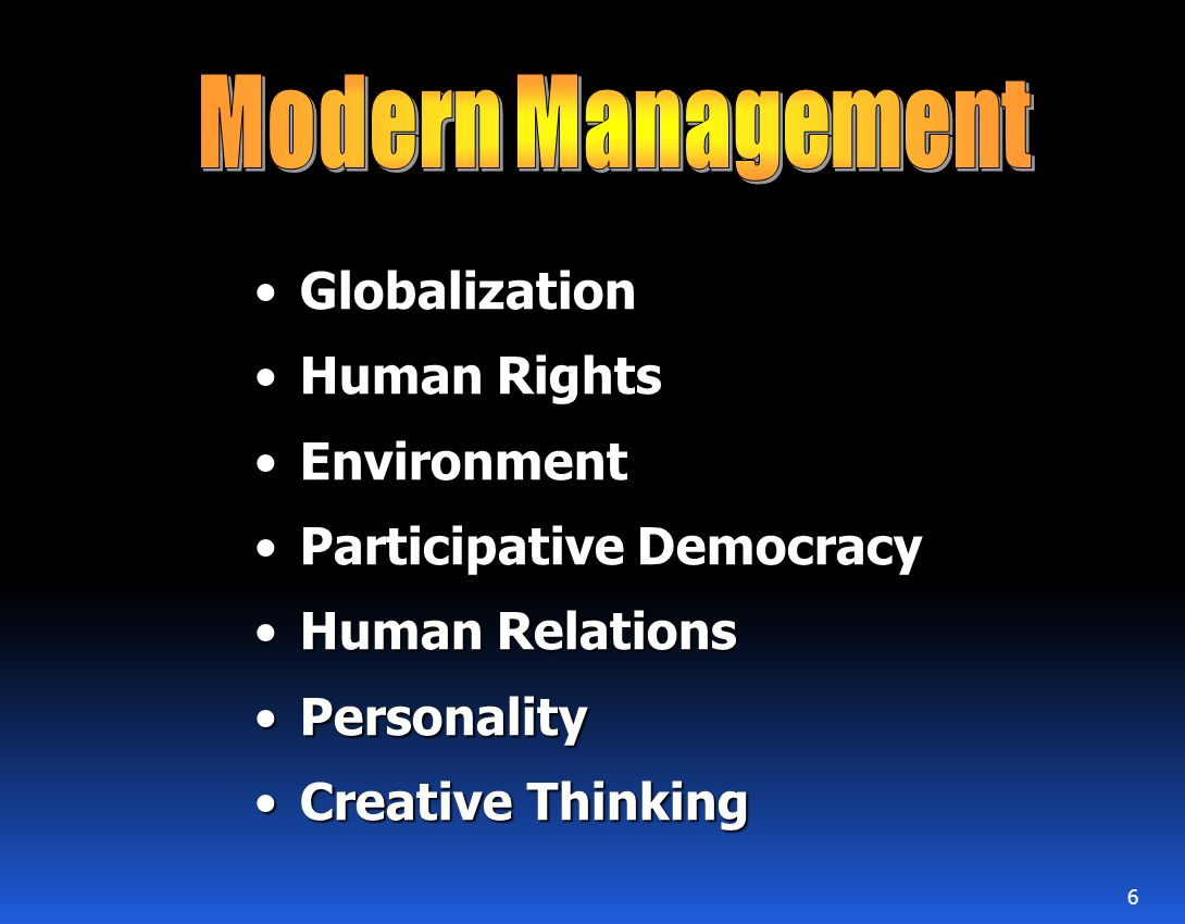 Modern Management Globalization Human Rights Environment