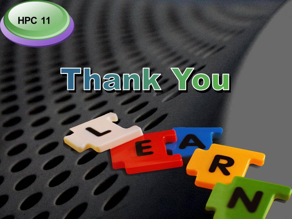 HPC 11 Thank You
