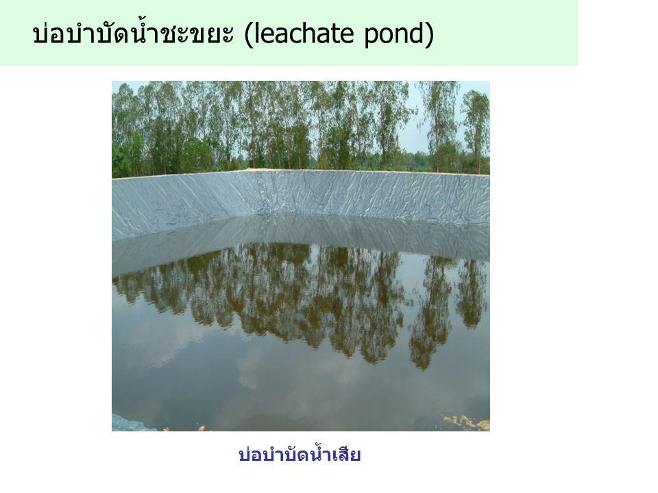 บ่อบำบัดน้ำชะขยะ (leachate pond)