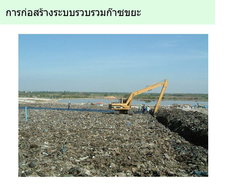 การก่อสร้างระบบรวบรวมก๊าซขยะ
