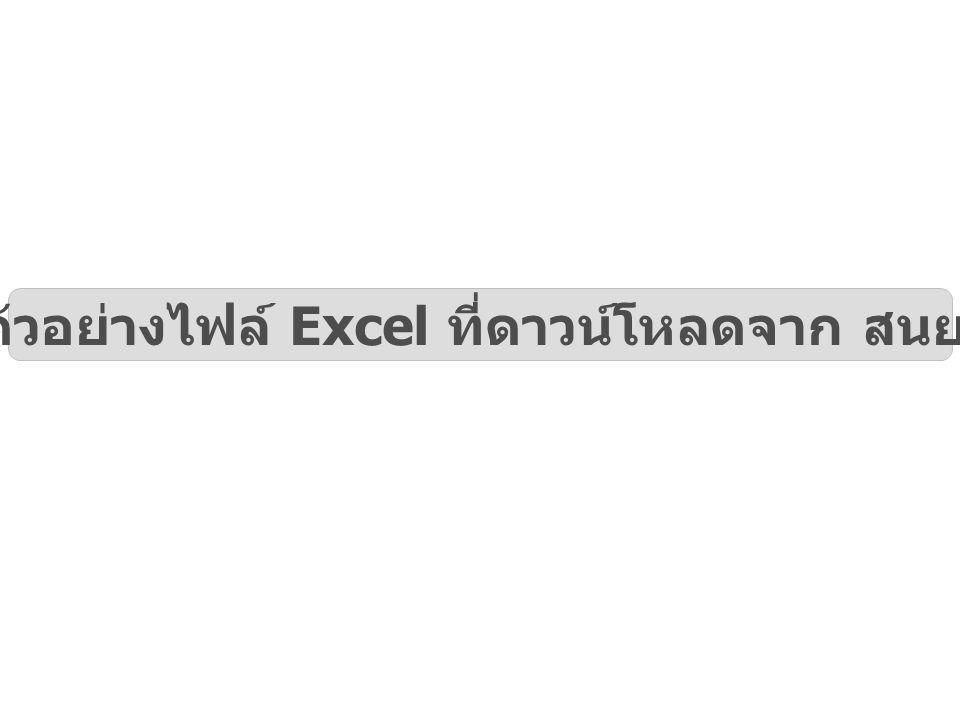 ตัวอย่างไฟล์ Excel ที่ดาวน์โหลดจาก สนย.