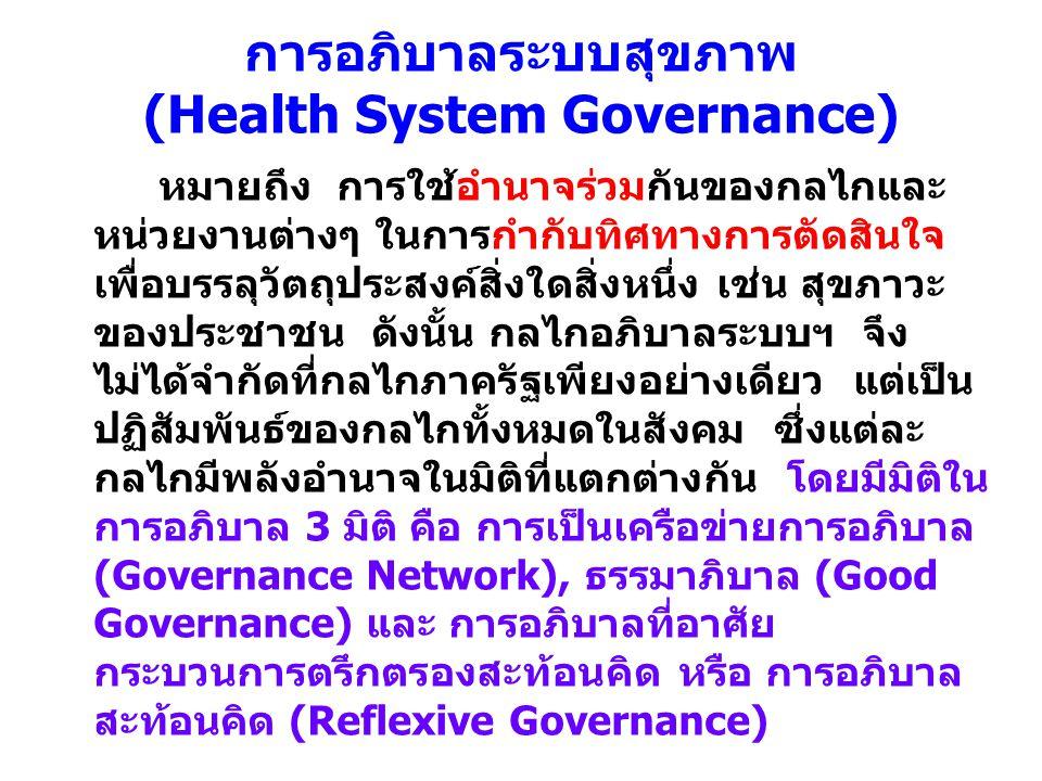 การอภิบาลระบบสุขภาพ (Health System Governance)