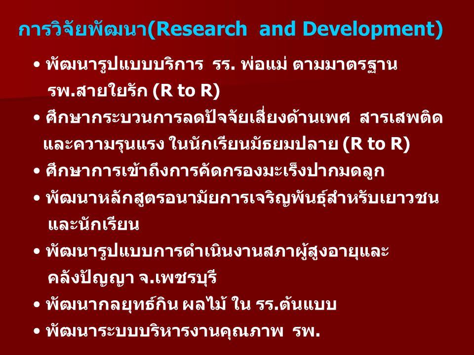 การวิจัยพัฒนา(Research and Development)