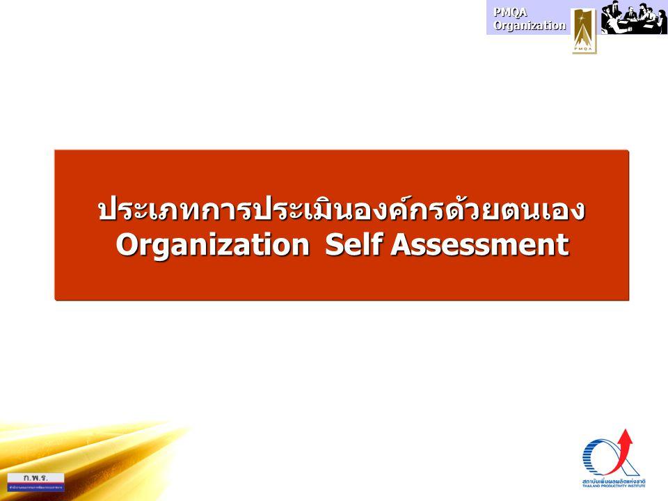 ประเภทการประเมินองค์กรด้วยตนเอง Organization Self Assessment