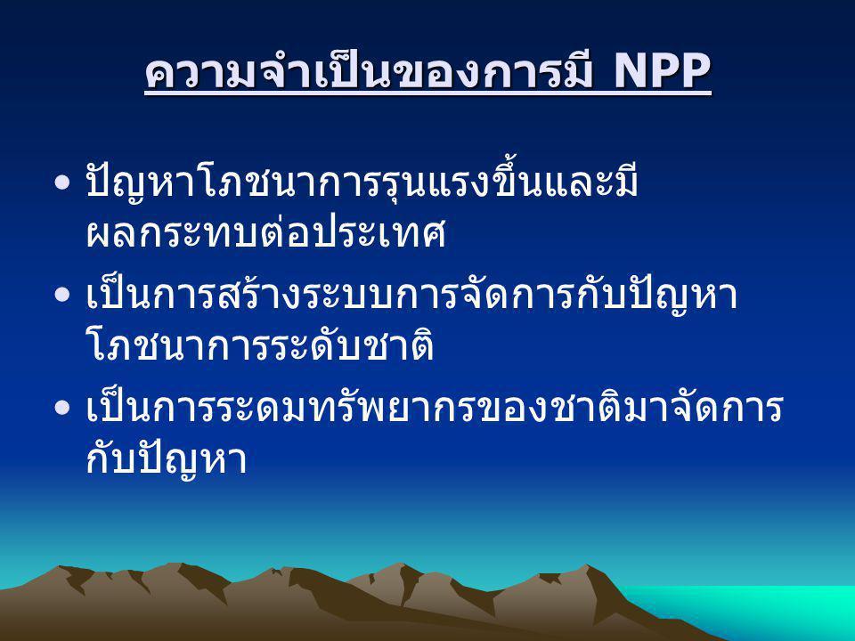 ความจำเป็นของการมี NPP