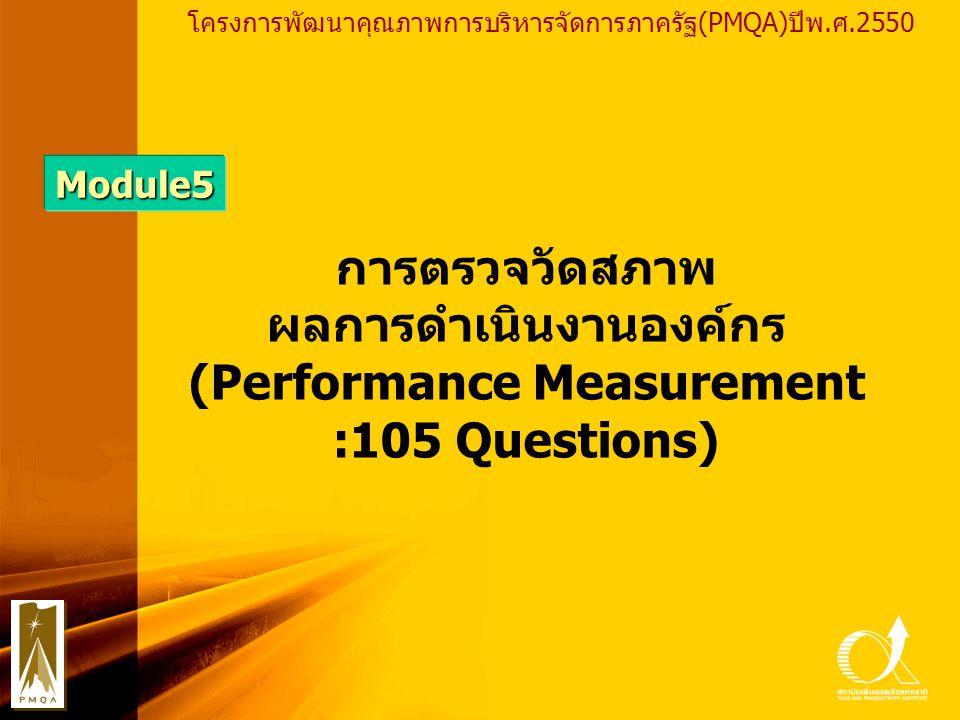 ผลการดำเนินงานองค์กร (Performance Measurement
