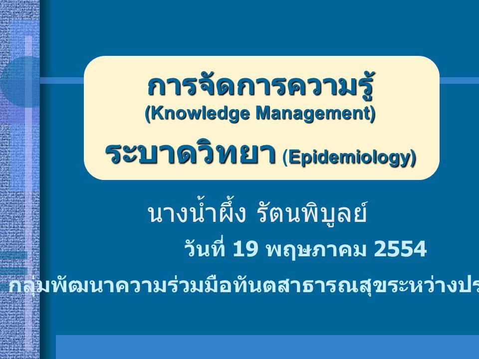 ระบาดวิทยา (Epidemiology)