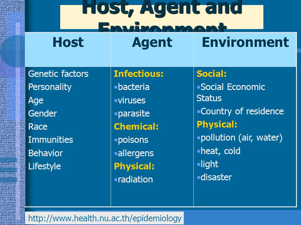 Host, Agent and Environment
