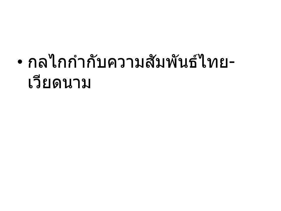กลไกกำกับความสัมพันธ์ไทย-เวียดนาม
