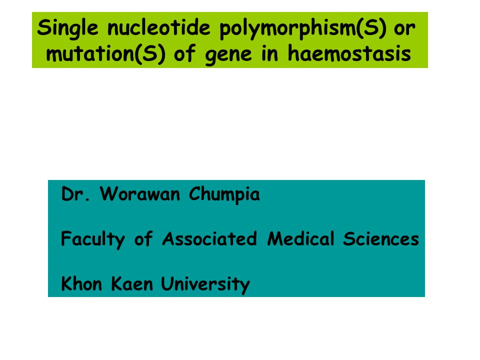 Single nucleotide polymorphism(S) or