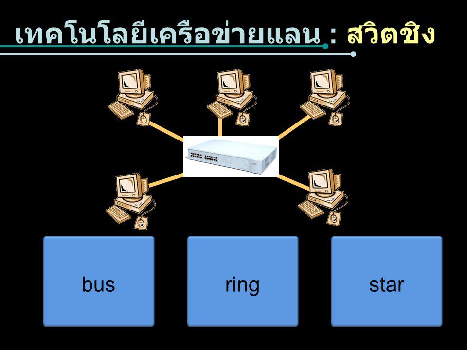 เทคโนโลยีเครือข่ายแลน : สวิตชิง