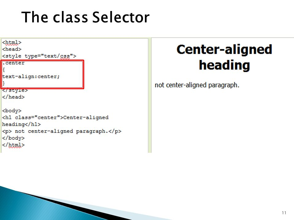 The class Selector