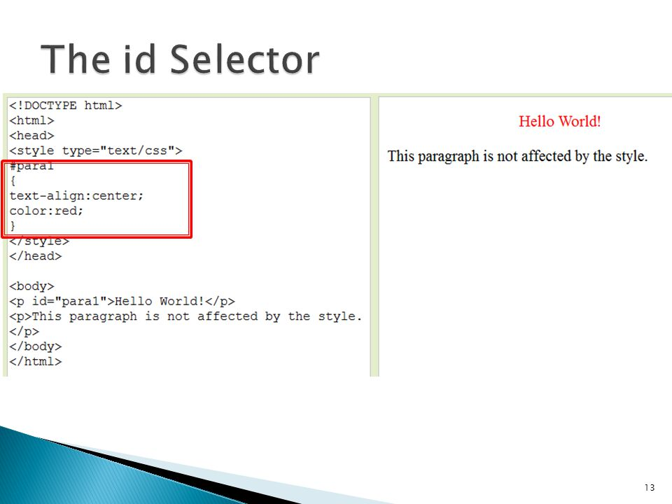 The id Selector