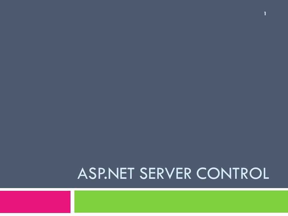 ASP.NET Server Control