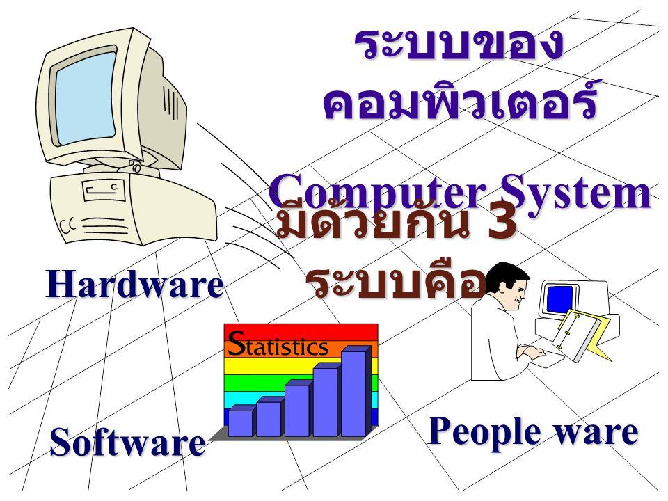 ระบบของคอมพิวเตอร์ Computer System มีด้วยกัน 3 ระบบคือ