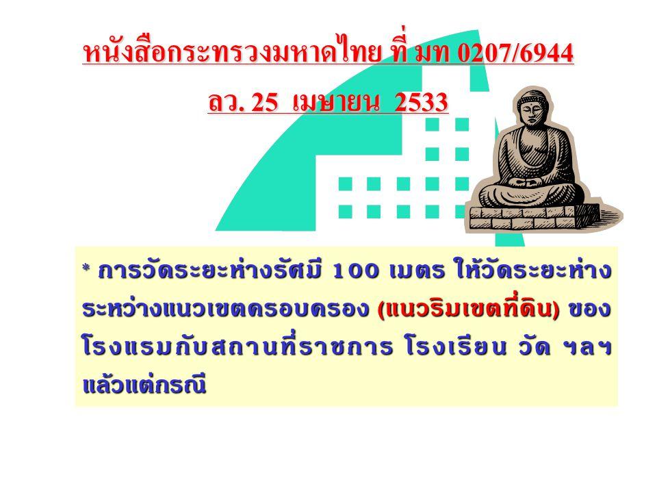 หนังสือกระทรวงมหาดไทย ที่ มท 0207/6944