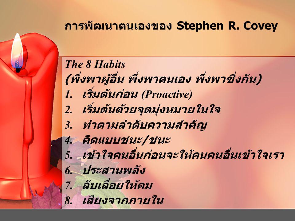 การพัฒนาตนเองของ Stephen R. Covey