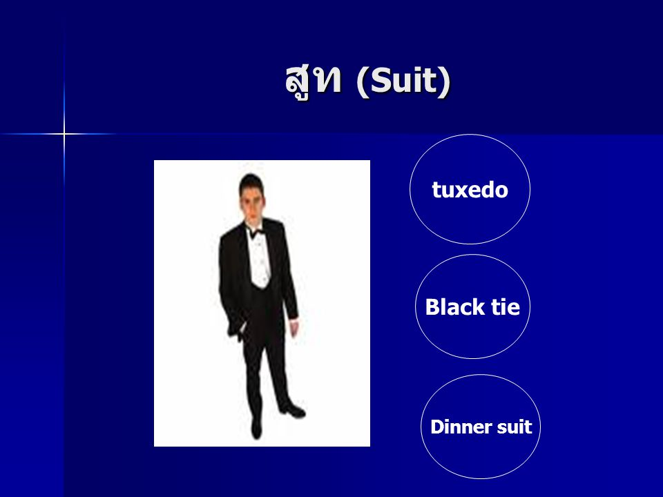 สูท (Suit) tuxedo Black tie Dinner suit