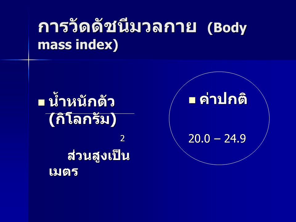 การวัดดัชนีมวลกาย (Body mass index)