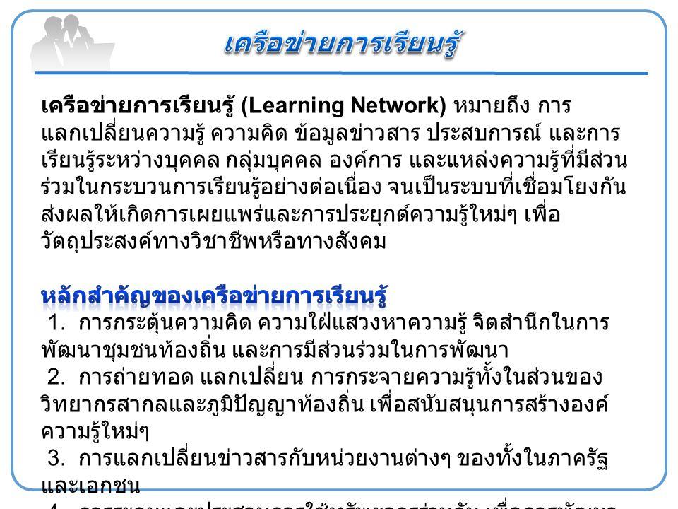 เครือข่ายการเรียนรู้